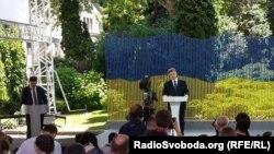 Петро Порошенко під час прес-конференції 5 червня 2015 року