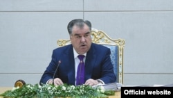 Tajikistan -- Tajik President Emomali Rahmon, 23Jan2019