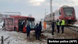 Pamje nga vendi ku ka ndodhur aksidenti në Nish të Serbisë.