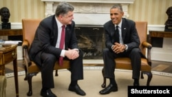 U. S. -- President Barack Obama during an official meeting with the President of Ukraine Petro Poroshenko in Washington, 18Sep2014