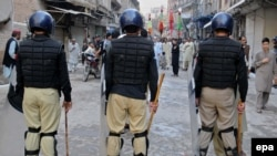 Protests have erupted in Khyber-Pakhtunkhwa Province in response to a video circulated on social media showing officers stripping a young man and beating him at a police station in the provincial capital, Peshawar. (file photo)