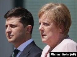 Ангела Меркель с президентом Украины Владимиром Зеленским.