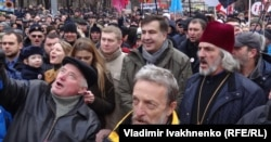 Kiyev. Saakaşvili tərəfdarlarının yürüşü, 3 dekabr, 2017