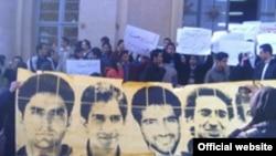 تجمع دانشجویان گرامی داشت روز شانزدهم آذر در دانشگاه تهران.