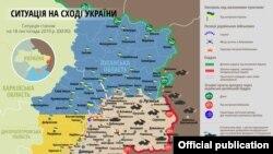 Ситуація в зоні бойових дій на Донбасі 18 листопада – карта