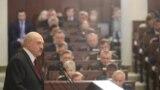 Аляксандар Лукашэнка зьвяртаецца да Нацыянальнага сходу. 19 траўня 2019.