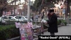 Лоток для печатной продукции Таджикистана.