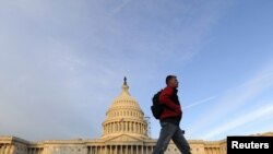 U.S. -- A man walks past the Capitol on election day in Washington, DC, 02Nov2010