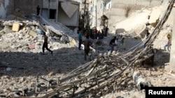 Ruševine Alepa nakon jednog od brojnih vazdušnih udara, oktobar 2016.