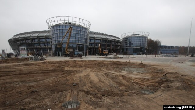 Zotau was responsible for the construction of the Chyzhouka-Arena sports center in Minsk, which is expected to host the 2014 Men's World Ice Hockey Championship in May.