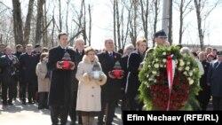 Жалобна церемонія у Смоленську, 10 квітня 2015 року