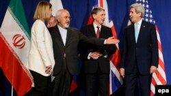 جانب من محادثات في سويسرا حول برنامج إيران النووي