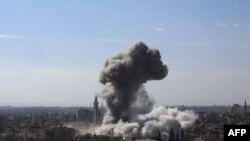 Sulmet ajrore në Douma, foto nga arkivi