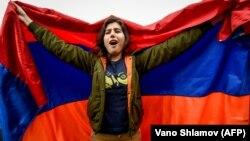 На акции протества в Ереване