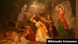 Джуніюс Брутус Стымз. Ганна Дастан забівае індзейцаў. 1847
