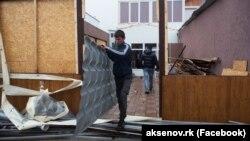 Демонтаж строений на Ай-Петри, 22 мая 2017 года
