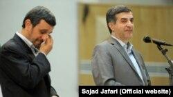 Махмуд Ахмадінеджад (л) і Есфандіяр Рагім-Машаї