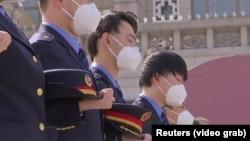 День памяти жертв коронавируса в Китае. 4 апреля 2020 года.