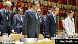 Срѓан Керим со генералниот секретар на ОН, Бан Ки Мун.