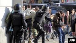 Протестная акция в Барселоне 29 марта