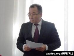 Представитель главной военной прокуратуры Аширбай Сахаев. Шымкент, 24 марта 2014 года.