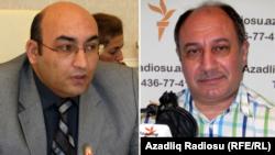 Araz Əlizadə (solda) və İqbal Ağazadə