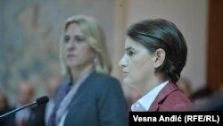 Ana Brnabić i Željka Cvijanović prilikom susreta u Beogradu, 10. novembar 2017.