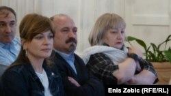 Karolina Vidović Krišto, predsjednik novinarskog sindikara Anton Filić i Elizabeta Gojan