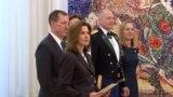 Новоименуваната амбасадорка Кејт Мери Брнс со претседателот Стево Пендароски