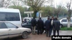 Алтынтөбе ауылдық округі тұрғындары. Оңтүстік Қазақстан облысы Қазығұрт ауданы.