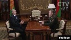 Лукашэнка і Жадобін. Скрыншот з youtube