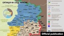 Ситуация в зоне конфликта в Донбассе 9 ноября 2017 года (по данным украинской стороны).