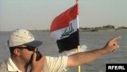قوات الأمن العراقية على نهر دجلة في محافظة واسط