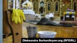 Будівля Кафедрального собору святих рівноапостольних Володимира і Ольги після зливи 12 червня