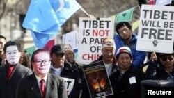 """Protesta për një """"Tibet të lirë"""", Uashington, 2012"""
