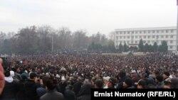 Митинг сторонников Мырзакматова в Оше, 7 декабря