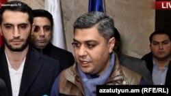 Артур Ванецян заявляет об отставке с поста президента ФФА, Ереван, 21 ноября 2019 г.