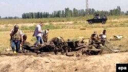Түркия -- Полиция кызматкерлери чабуулга кабылган жер. 8-сентябрь, 2015