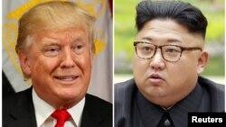 Дональд Трамп и Ким Чен Ын. Коллаж