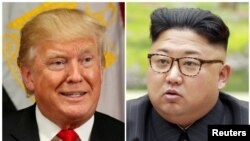 U.S. President Donald Trump (left) and North Korean leader Kim Jong Un