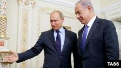 Prezident Vladimir Putin İsrail baş naziri Benjamin Netanyahu ilə Novo-Ogaryovo iqamətgahında görüşüb