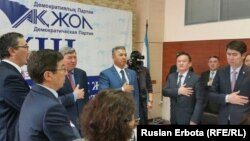 На съезде партии «Ак жол». Астана, 3 февраля 2016 года.
