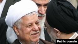 محمد خاتمی (راست) همراه با اکبر هاشمی رفسنجانی.