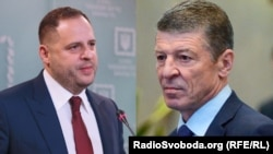 Комбинированное фото. Председатель Офиса президента Украины Андрей Ермак (слева) и заместитель главы администрации президента России Дмитрий Козак.