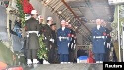Ispraćaj kovčega sa tijelom ruskog pilota iz Ankare