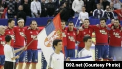 Rukometna reprezentacija Srbije osvojila je srebrnu medalju na Evropskom prvenstvu, januar 2012.
