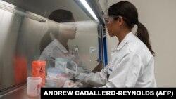Сотрудник лаборатории по разработке вакцины от коронавируса COVID-19.