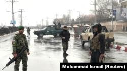 ავღანეთის სამხედრო აკადემიის მიმდებარე ტერიტორია. ქაბული, 2018 წლის 29 იანვარი