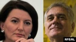 Atifete Jahjaga i Tomislav Nikolić, combo fotografija