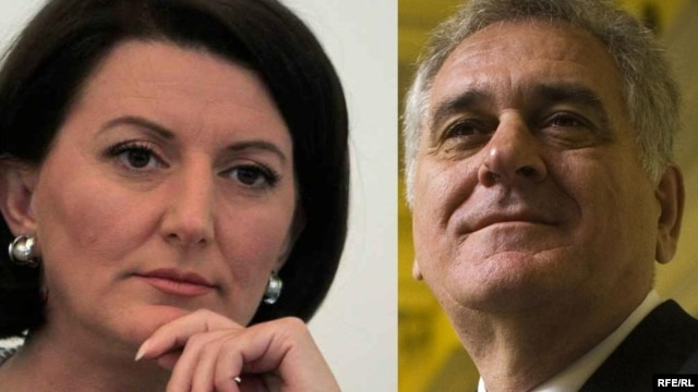 Kosovar President Atifete Jahjaga (left) and Serbian President Tomislav Nikolic will meet on February 6.